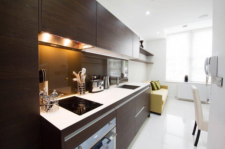 фото квартиры-студии: кухня