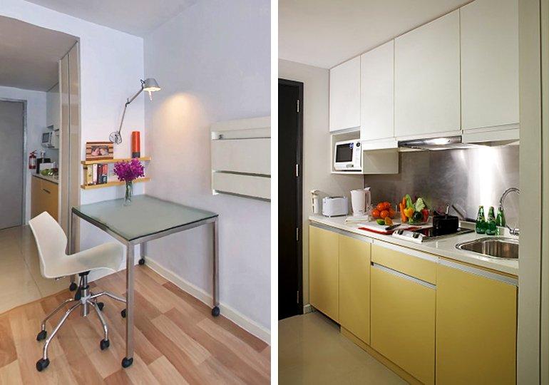 фото: рабочее место и кухня