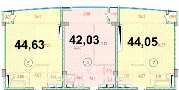 планировки студий 40-50 кв метров