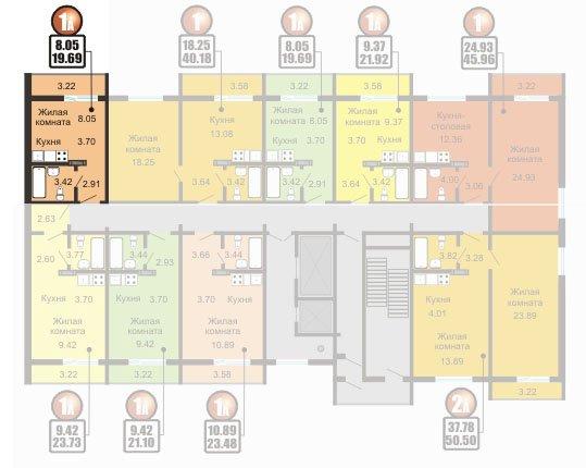 пример планировки квартиры студии до 20 кв м